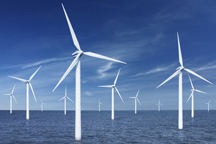 Off shore wind turbines (Digital Composite)