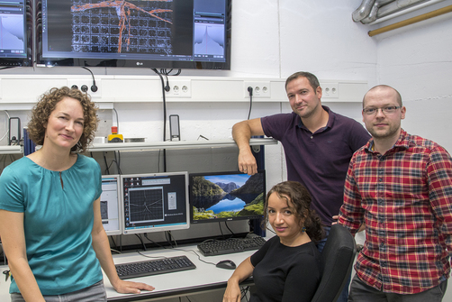 photo of  Dr. Anja Waske and her team