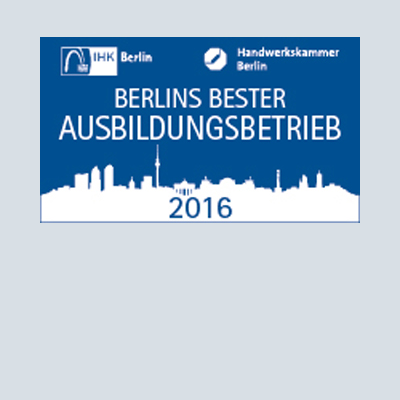 One of Berlin's best vocational training companies 2016