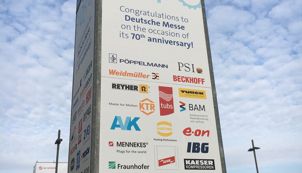 The year 1947 marked the beginning of one of the world's most important industrial tradeshows. BAM congratulates on 70 years of Hannover Messe.