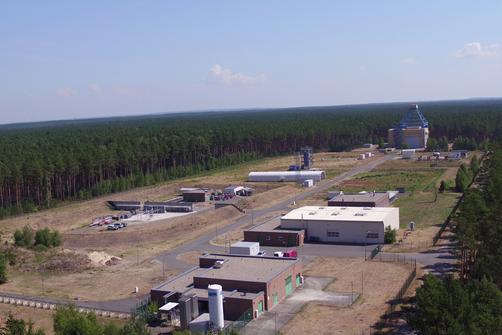 Aerial picture of a part of the BAM Test Site Technical Safety (TTS)