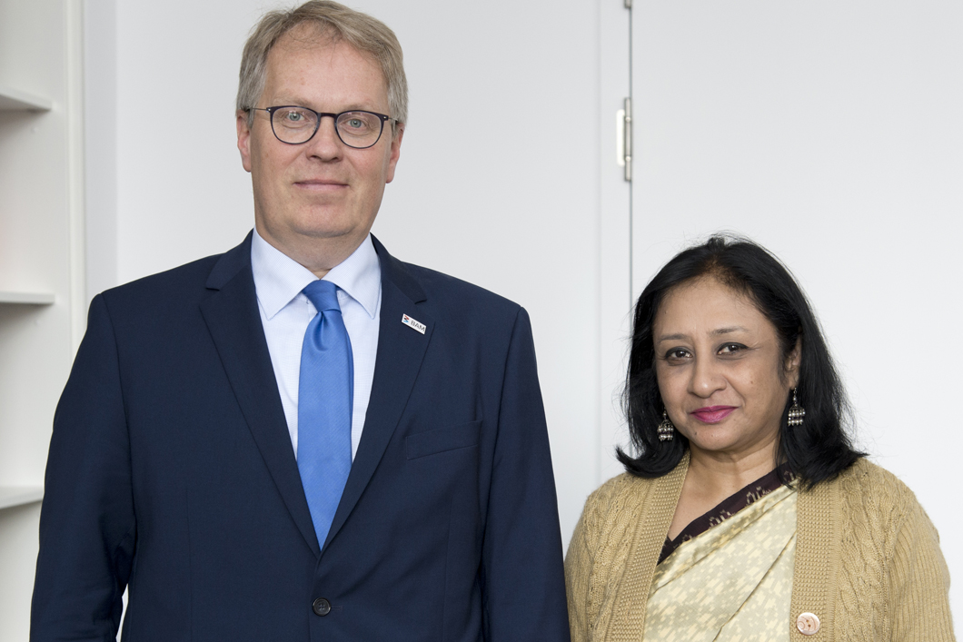 Indian Ambassador Mukta Dutta Tomar visited BAM in September to find out about the ongoing IGSTC projects