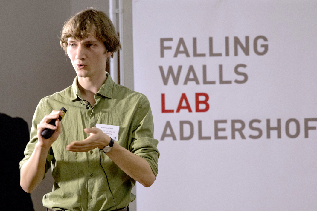Image of Christian Heck at Falling Walls Lab Adlershof