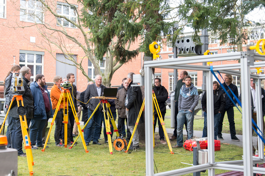 "Practical demonstration at the symposium ""Measurement in building industry"" 2017"