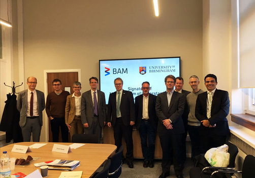BAM and the University of Birmingham signed a memorandum of understanding to collaborate more closely.