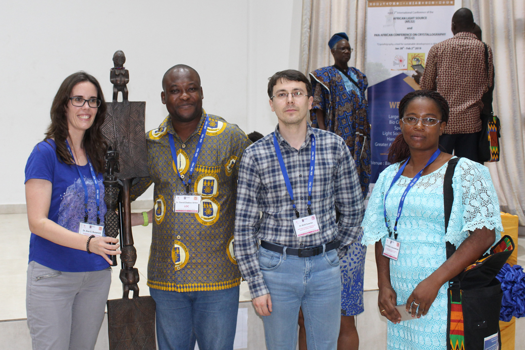 Dr Ana Guilherme Buzanich at an exchange about an African synchrotron with scientists in Accra