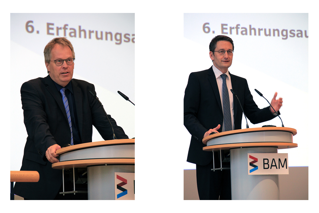 Prof. Ulrich Panne, President of BAM and senior civil servant Stefan Schnorr, Head of the Digital and Innovation Policy department of the Federal Ministry for Economic Affairs and Energy and also Chairman of the BAM Board of Trustees