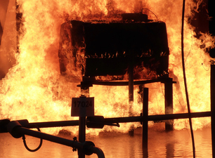 Large scale fire test with a 1100 liter tank at the BAM Test Site for Technical Safety
