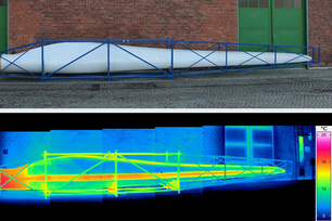Thermogram of a rotor blade during cooling
