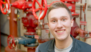 Oliver Kalies, installation mechanic trainee for sanitation, heating and air conditioning at BAM