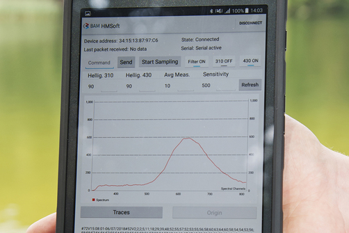 Tablet display with data