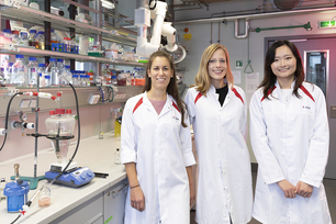 Dr Andrea Koerdt (centre) and her team
