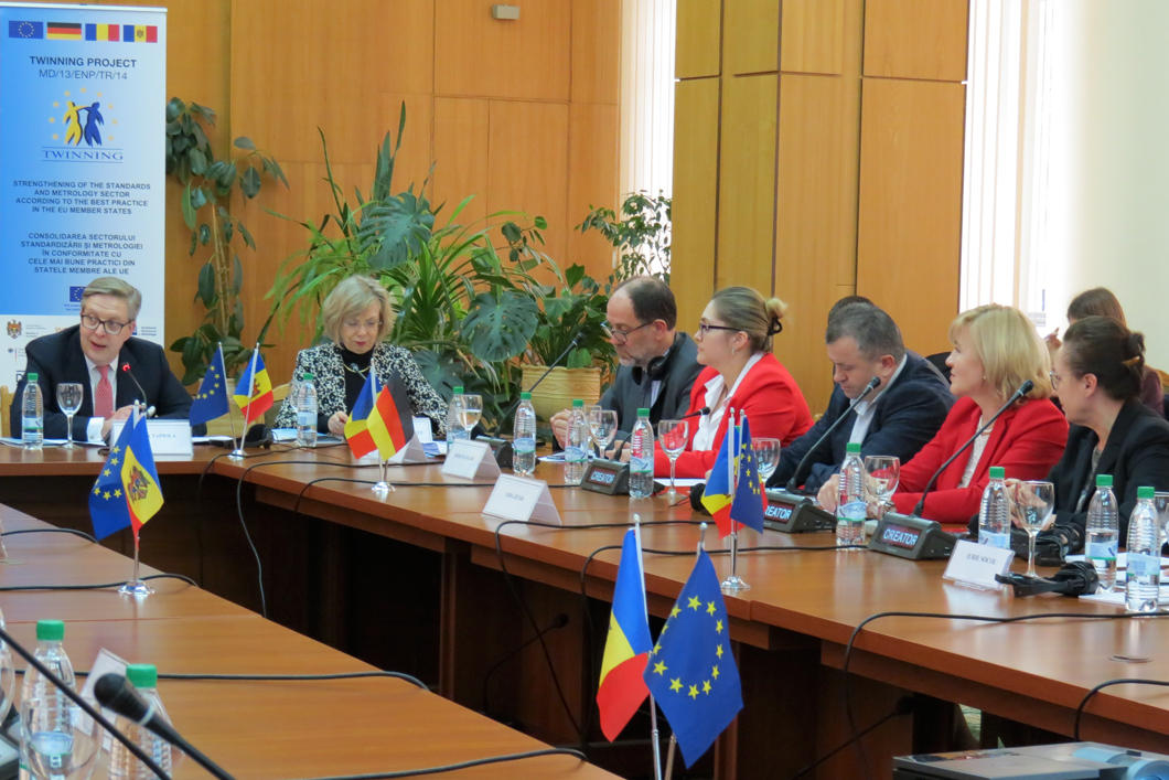 Strengthened quality infrastructure in Moldova: the project consortium discusses the twinning project's achievements at the closing conference